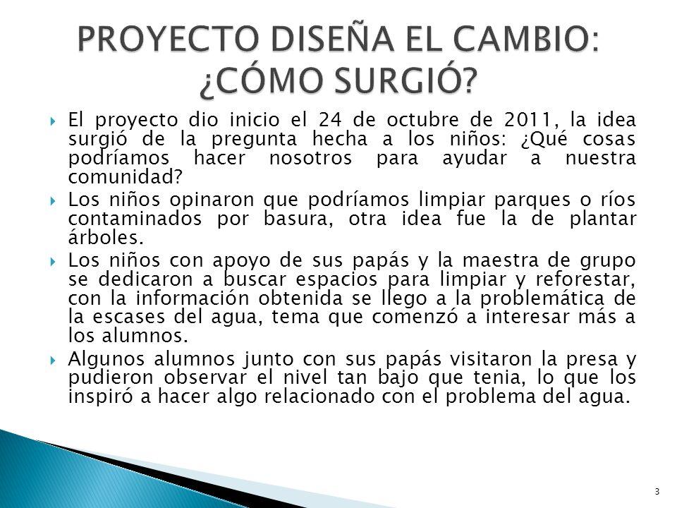 El proyecto dio inicio el 24 de octubre de 2011, la idea surgió de la pregunta hecha a los niños: ¿Qué cosas podríamos hacer nosotros para ayudar a nu