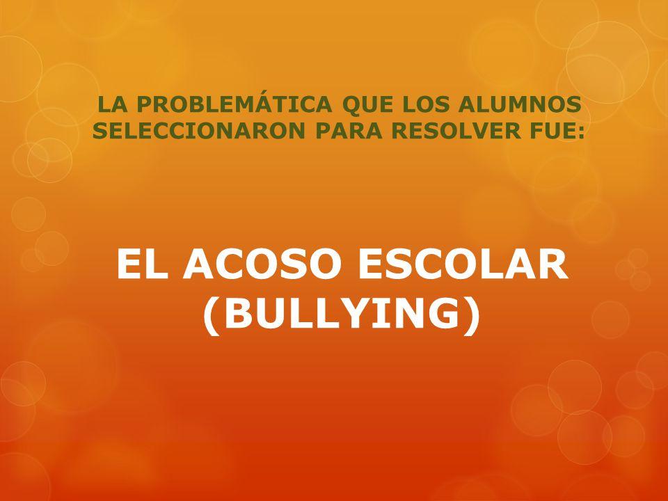 El acoso escolar (también conocido como hostigamiento escolar o por su término en inglés bullying) es cualquier forma de maltrato psicológico, verbal o físico producido entre escolares de forma reiterada a lo largo de un tiempo determinado tanto en el aula, como a través de las redes sociales, con el nombre específico de ciberacoso.