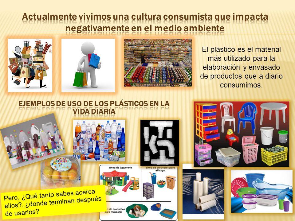 El plástico es el material más utilizado para la elaboración y envasado de productos que a diario consumimos.