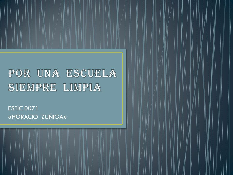 ESTIC 0071 «HORACIO ZUÑIGA»