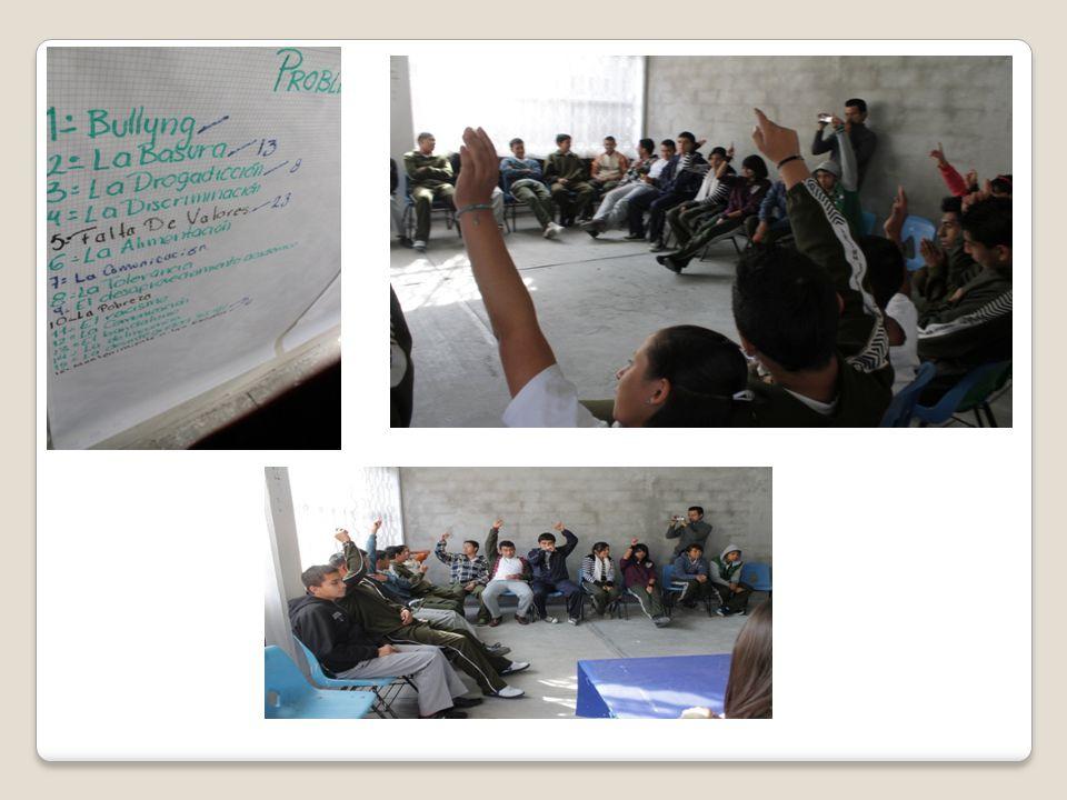 Etapa 2 Imagina Imaginar nos ayuda a plantearnos posibles soluciones del problema, en este caso, se decidió armar mesas de trabajo con el propósito de que los alumnos expusieran sus posibles soluciones al Bullying y practica de valores.
