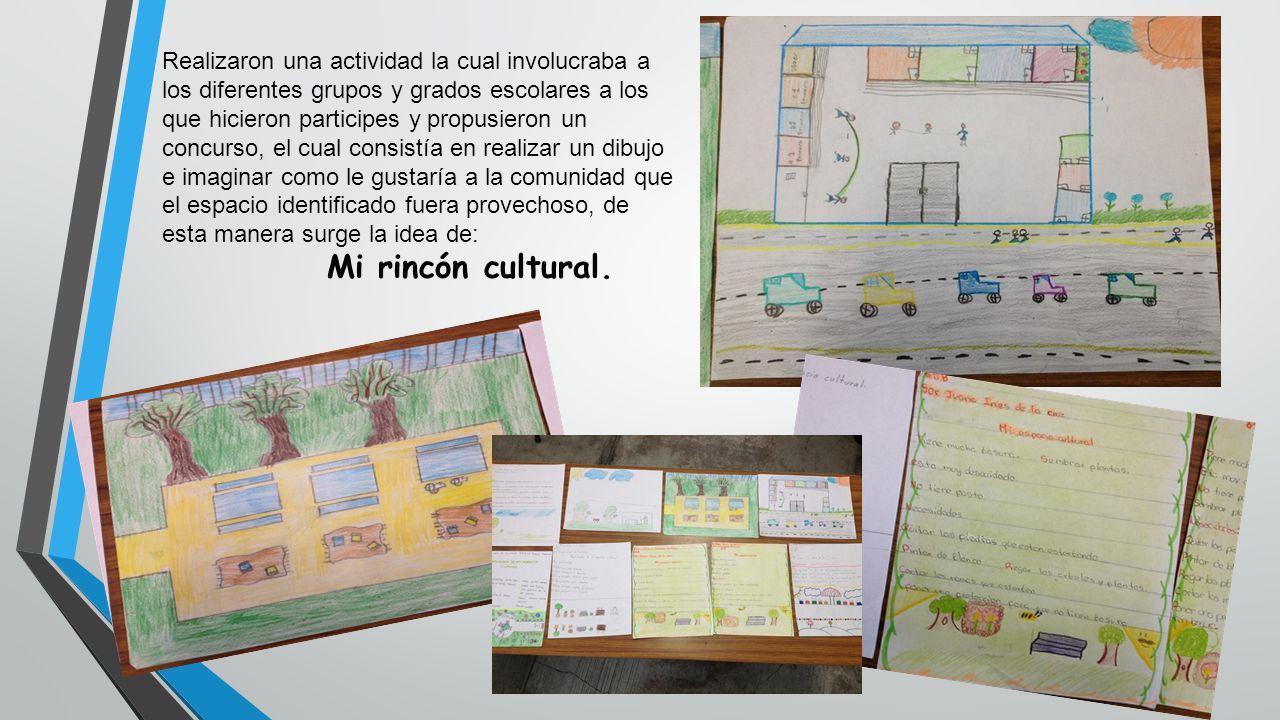Realizaron una actividad la cual involucraba a los diferentes grupos y grados escolares a los que hicieron participes y propusieron un concurso, el cu