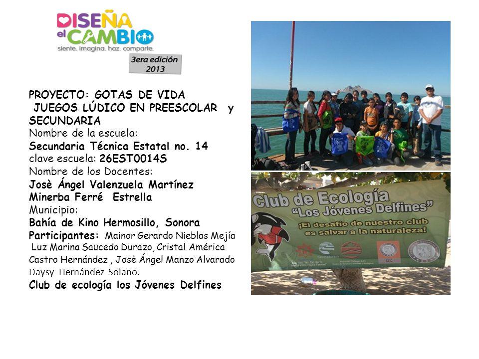 Para esta etapa de inicio se trabajo con los integrantes del club de ecología realizando campaña de reciclaje de vitro piso.