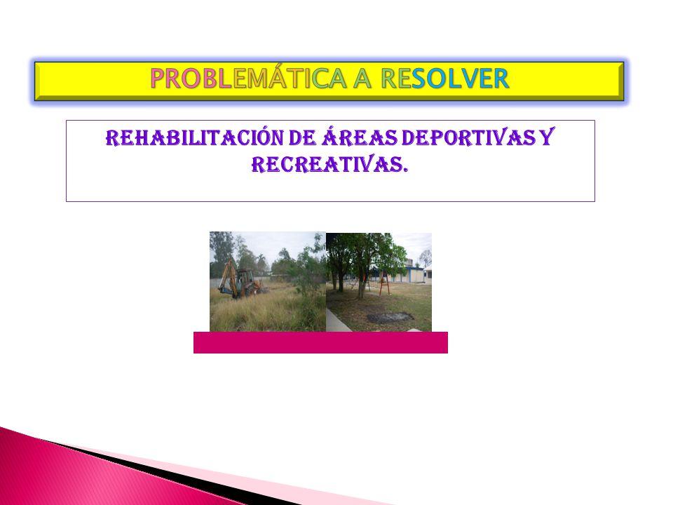 REHABILITACIÓN DE ÁREAS DEPORTIVAS Y RECREATIVAS.