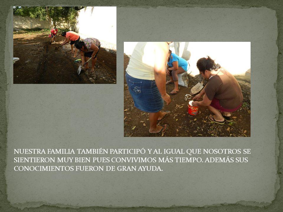 NUESTRAS MAMÁS FUERON LAS QUE REALMENTE CONTRIBUYERON AL MOMENTO DE SEMBRAR NUESTRO CILANTRO, RÁBANO Y LECHUGA.