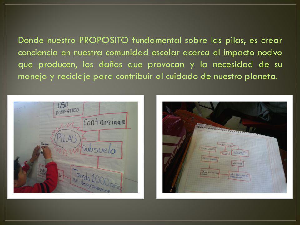 Los alumnos: SENTIMOS la necesidad de investigar sobre la problemática.