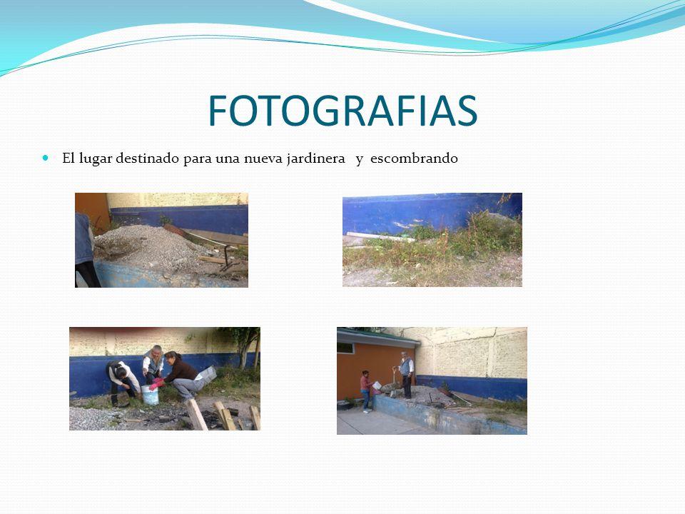 FOTOGRAFIAS El lugar destinado para una nueva jardinera y escombrando