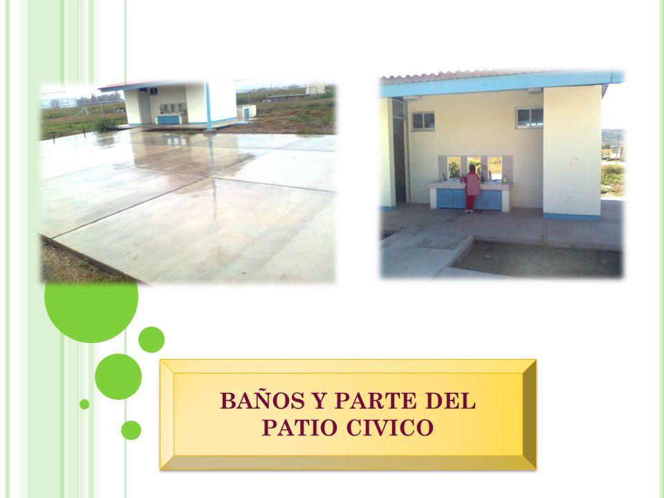 AULA Y ESCASES DE MATERIALES PATIO CIVICO