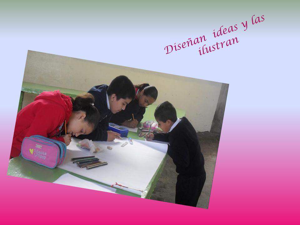 Diseñan ideas y las ilustran