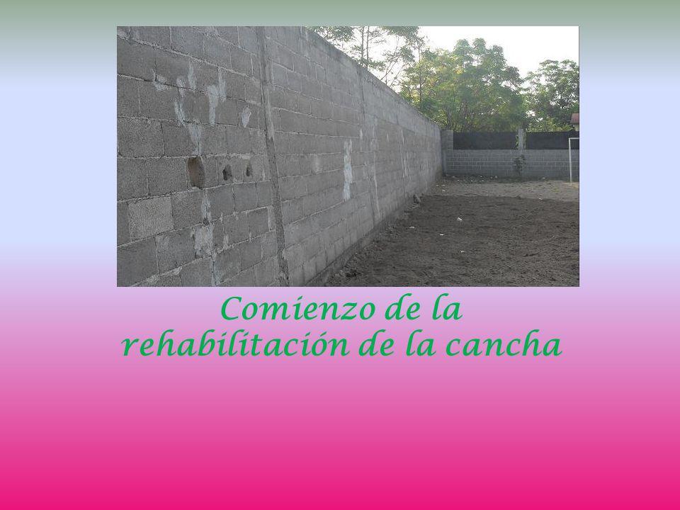 Comienzo de la rehabilitación de la cancha