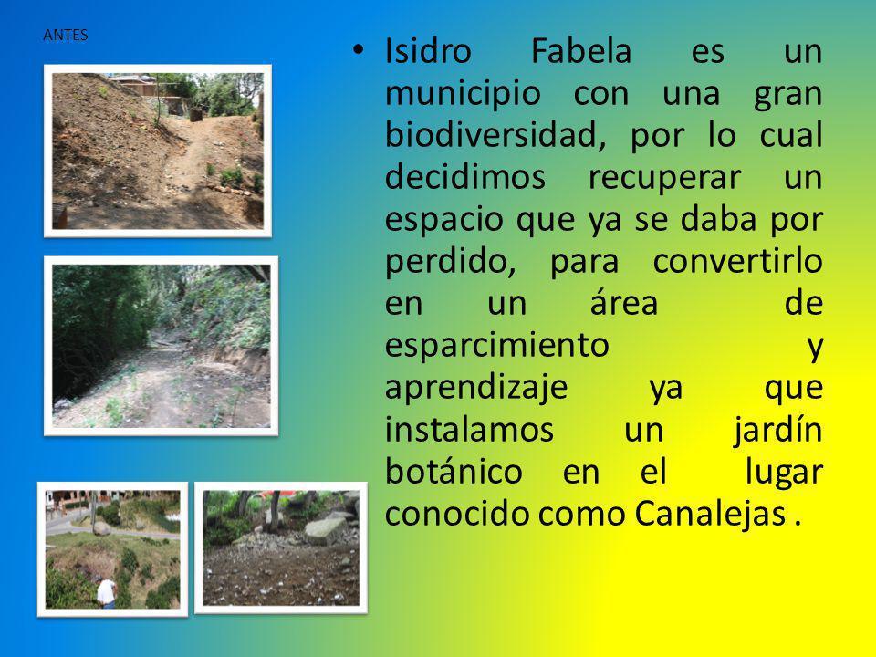 Isidro Fabela es un municipio con una gran biodiversidad, por lo cual decidimos recuperar un espacio que ya se daba por perdido, para convertirlo en u