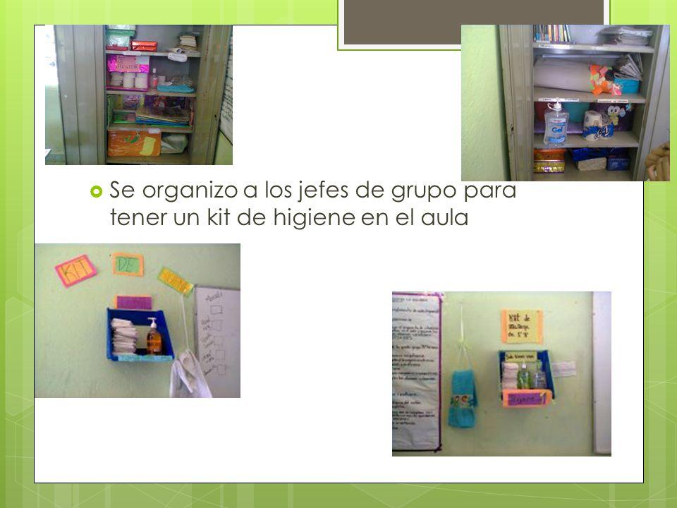 Se organizo a los jefes de grupo para tener un kit de higiene en el aula