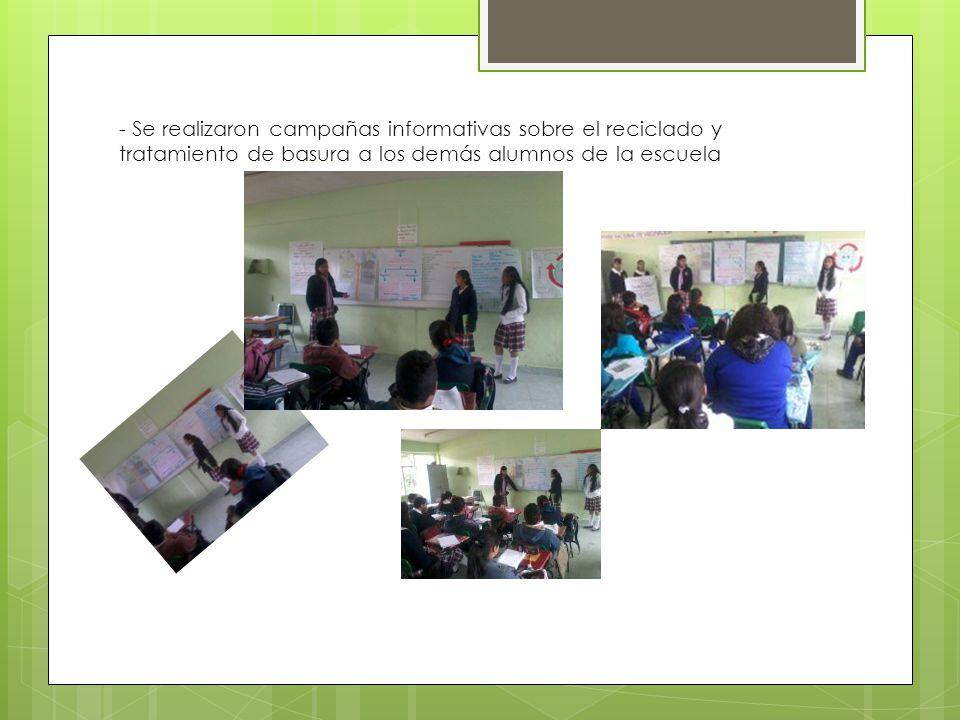 Se promociono el proyecto invitando a toda la comunidad estudiantil a participara a partir de la creación de boletines informativos y un periódico escolar