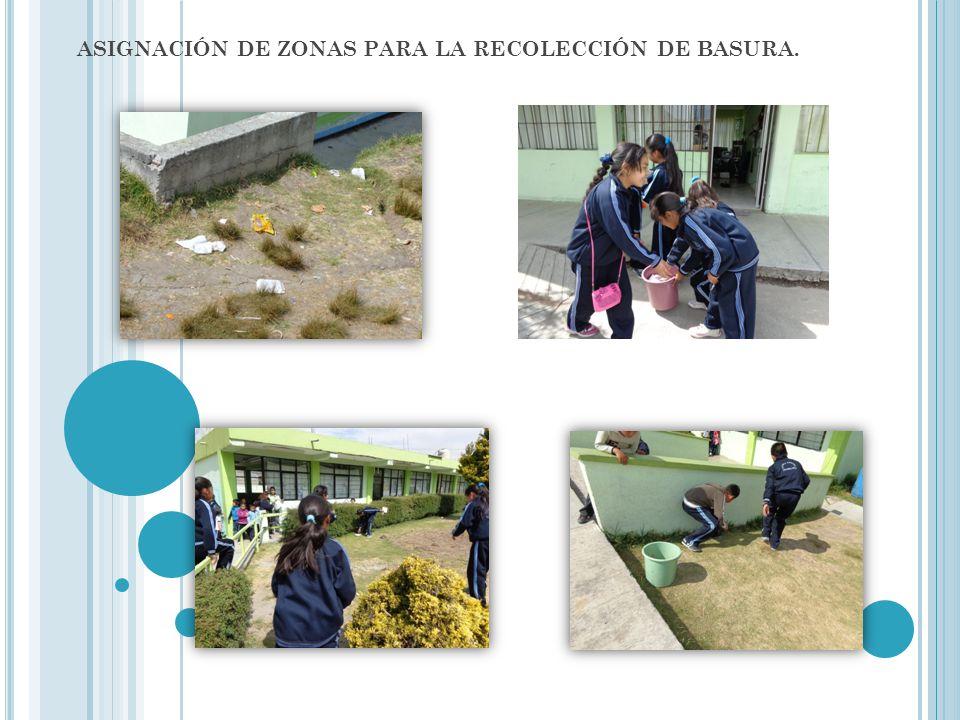 ASIGNACIÓN DE ZONAS PARA LA RECOLECCIÓN DE BASURA.
