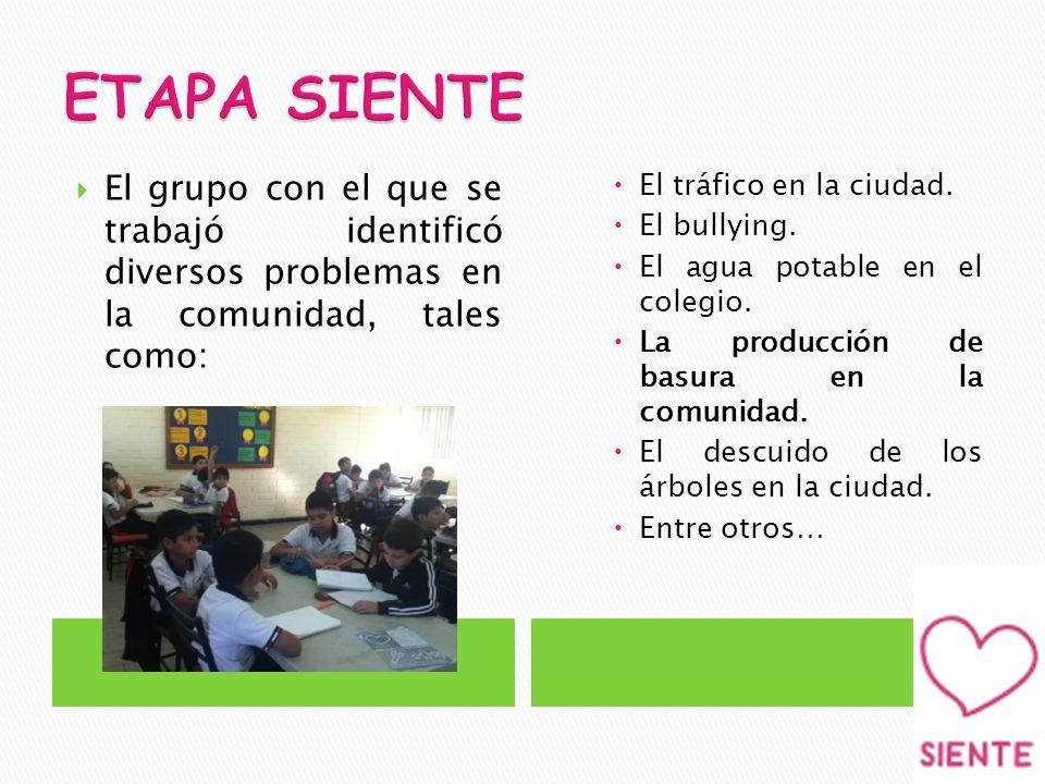 El grupo con el que se trabajó identificó diversos problemas en la comunidad, tales como: El tráfico en la ciudad.