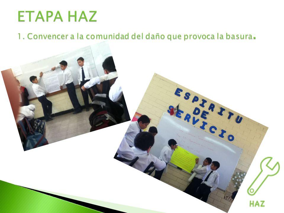Para llevar a cabo la campaña de limpieza, se convocó a los padres de familia para realizar la limpieza de un campo público cercano al colegio.