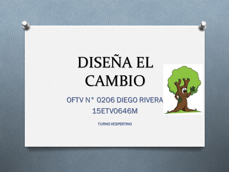 DISEÑA EL CAMBIO OFTV N° 0206 DIEGO RIVERA 15ETV0646M TURNO VESPERTINO