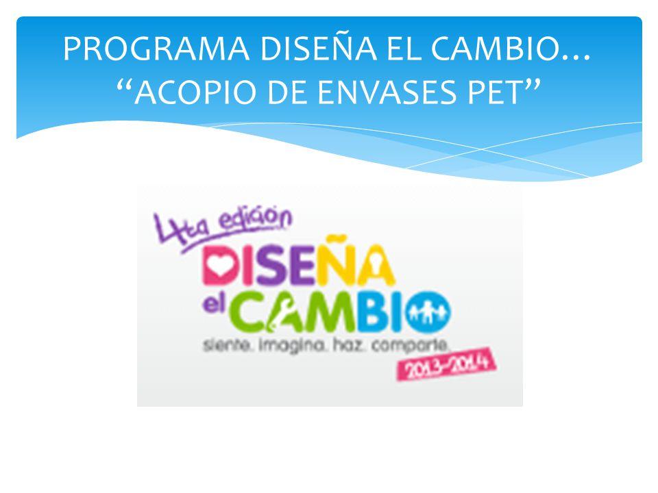 PROGRAMA DISEÑA EL CAMBIO… ACOPIO DE ENVASES PET