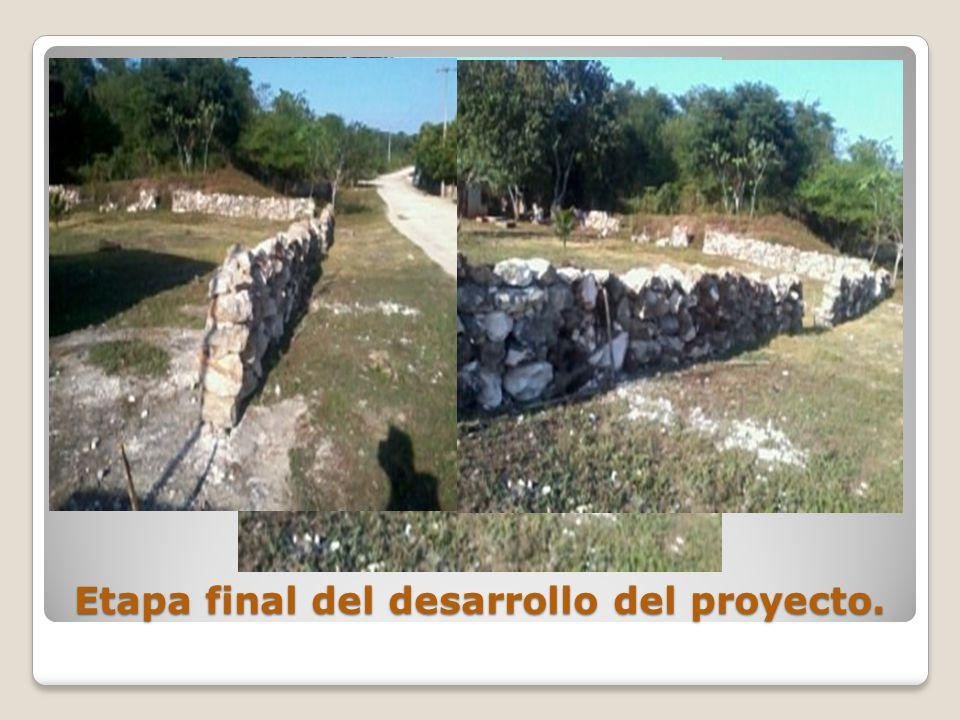 Etapa final del desarrollo del proyecto.