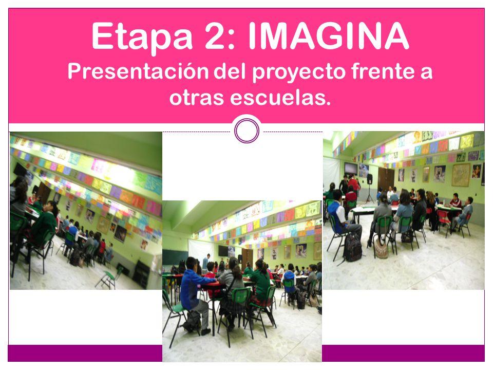 Etapa 2: IMAGINA Presentación del proyecto frente a otras escuelas.