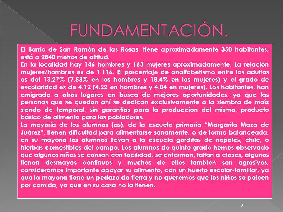 PROBLEMAS TAL CUAL ELLOS LO ANALIZARON 5 No.PROBLEMATICAS 8ALUMNOS QUE NO LLEVAN COMIDA A LA HORA DE RECREO 9NIÑOS QUE LES MANDAN DE COMER TORTILLA CON CHILE 10 NIÑOS Y NIÑAS QUE TOMAN EN LUGAR DE AGUA TOMAN COCACOLA 11ESPACIO INSUFICIENTE PARA JUGAR A LA HORA DE RECREO.