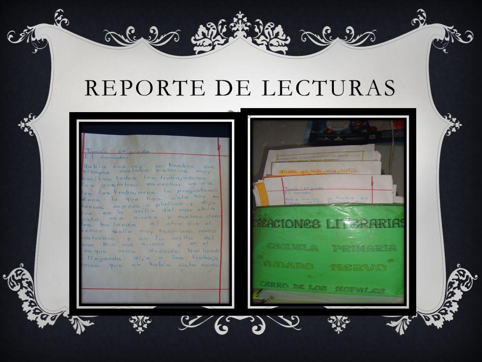 REPORTE DE LECTURAS