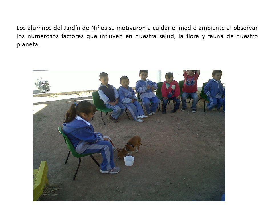 Los alumnos del Jardín de Niños se motivaron a cuidar el medio ambiente al observar los numerosos factores que influyen en nuestra salud, la flora y f