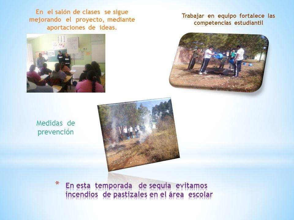 En el salón de clases se sigue mejorando el proyecto, mediante aportaciones de ideas.