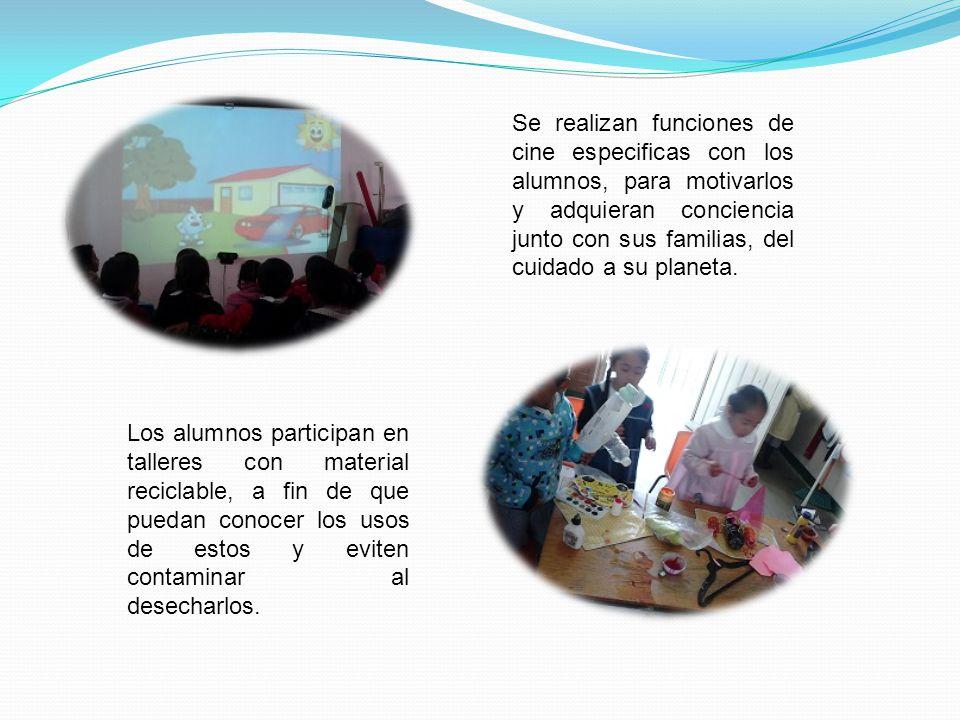 Los alumnos llevan a cabo exposiciones con sus compañeros de la escuela para informar como debemos de cuidar al planeta. La comunidad escolar, se info