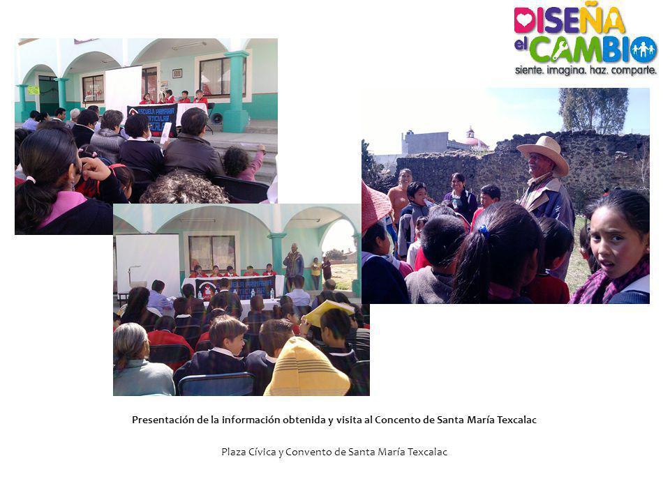 Presentación de la información obtenida y visita al Concento de Santa María Texcalac Plaza Cívica y Convento de Santa María Texcalac