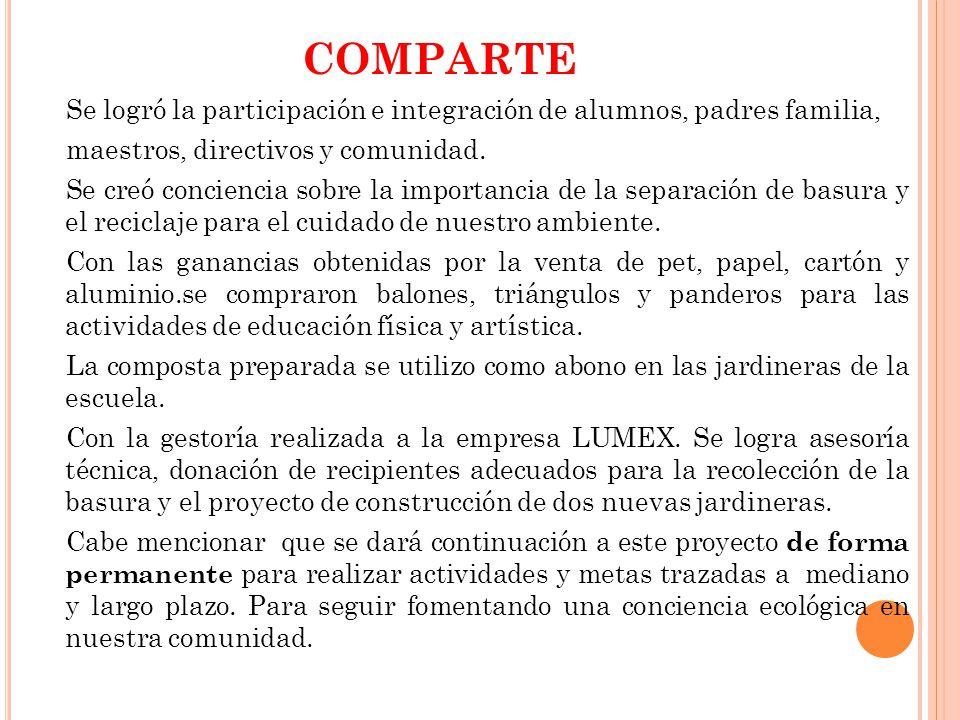 G ESTORÍA ANTE REPRESENTANTES DE LA EMPRESA LUMEX