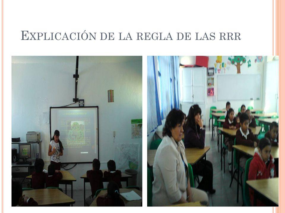 E XPLICACIÓN DE LA REGLA DE LAS RRR