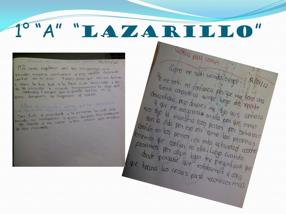 1° A Lazarillo