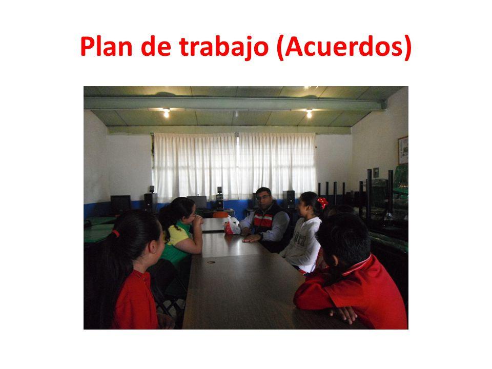 Plan de trabajo (Acuerdos)