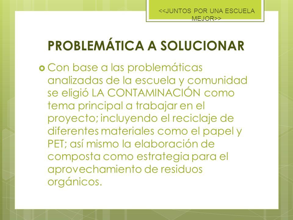 CONTAMINACIÓN PROBLEMÁTICA ESCOLAR BASURA