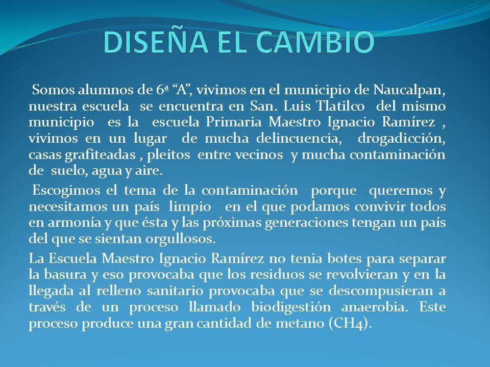Somos alumnos de 6ª A, vivimos en el municipio de Naucalpan, nuestra escuela se encuentra en San.