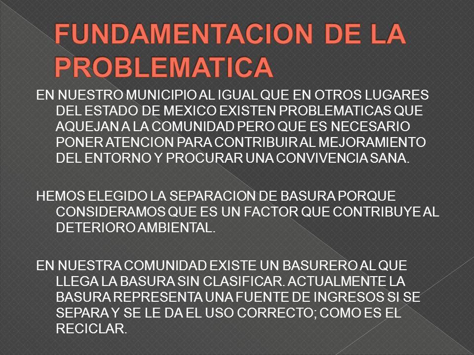 TENER UN LUGAR ESTRATEGICO PARA RECIBIR BASURA CLASIFICADA GENERANDO EMPLEOS Y GANANCIAS ECONOMICAS AL RECICLAR.