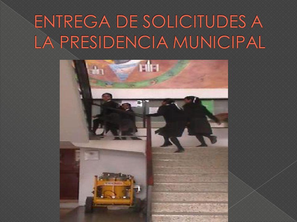 AC TI VI DA D RE SP ON SA BL E Y FE CH A ELABORAR UNA SOLICITUD DIRIGIDA AL C.