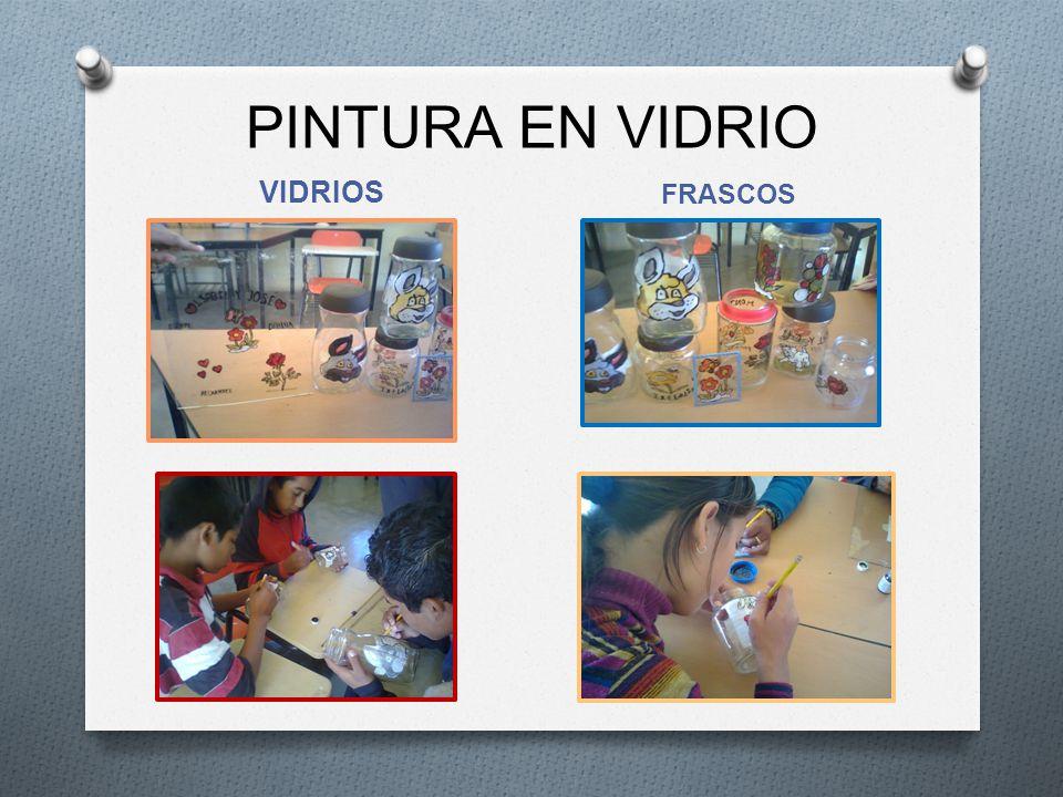 PINTURA EN VIDRIO VIDRIOS FRASCOS