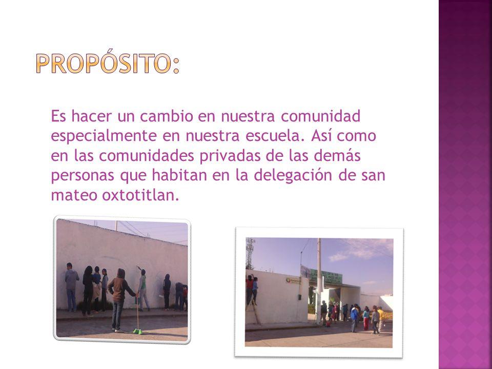 LOS ALUMNOS DE LA SECUNDARIA OFICIAL 415 ALFREDO DEL MAZO VELEZ SE CONCIENTIZARÁN SOBRE LOS DAÑOS QUE CAUSA A LA COMUNIDAD EL QUE EL GRAFITTI SEA PARTE DE UNA COMUNIDAD DE VANDALISMO.