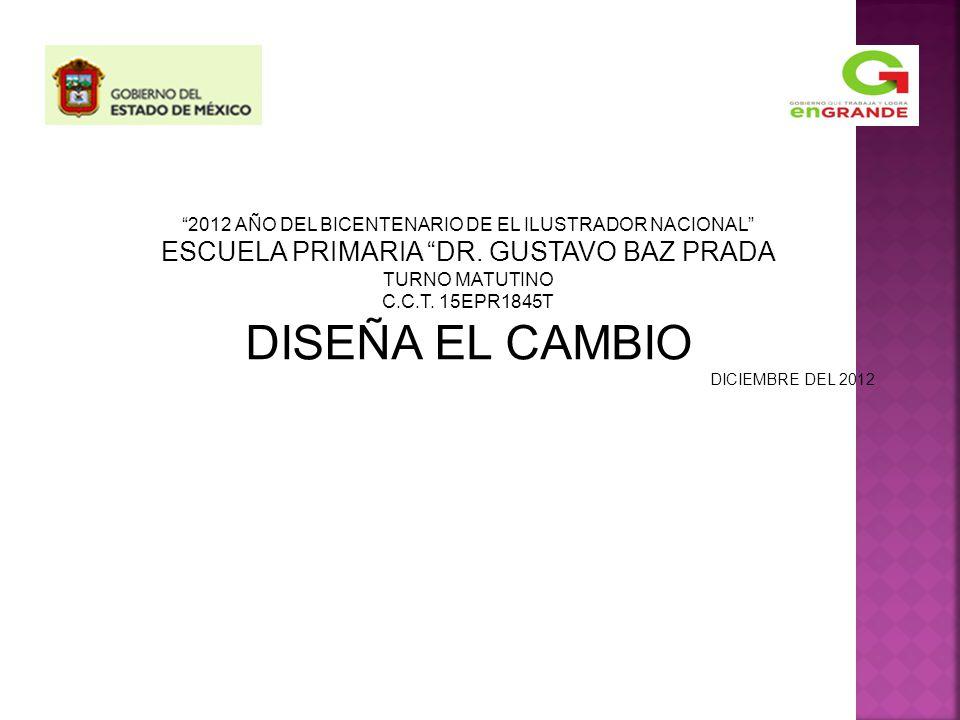 2012 AÑO DEL BICENTENARIO DE EL ILUSTRADOR NACIONAL ESCUELA PRIMARIA DR.