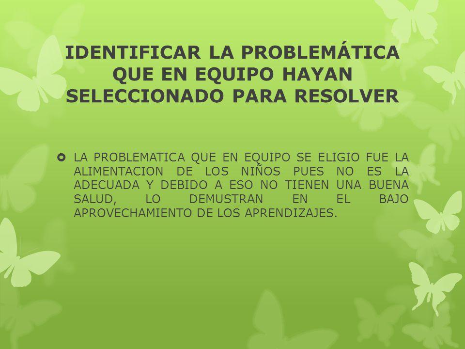 LISTADO DE 14 PROBLEMATICAS DESTACADAS POR LOS ALUMNOS FALTA DE AGUA EN LA COMUNIDAD LAS TIENDAS PARA ABASTECERSE DE ALIMENTOS SE ENCUENTRAN MUY RETIR