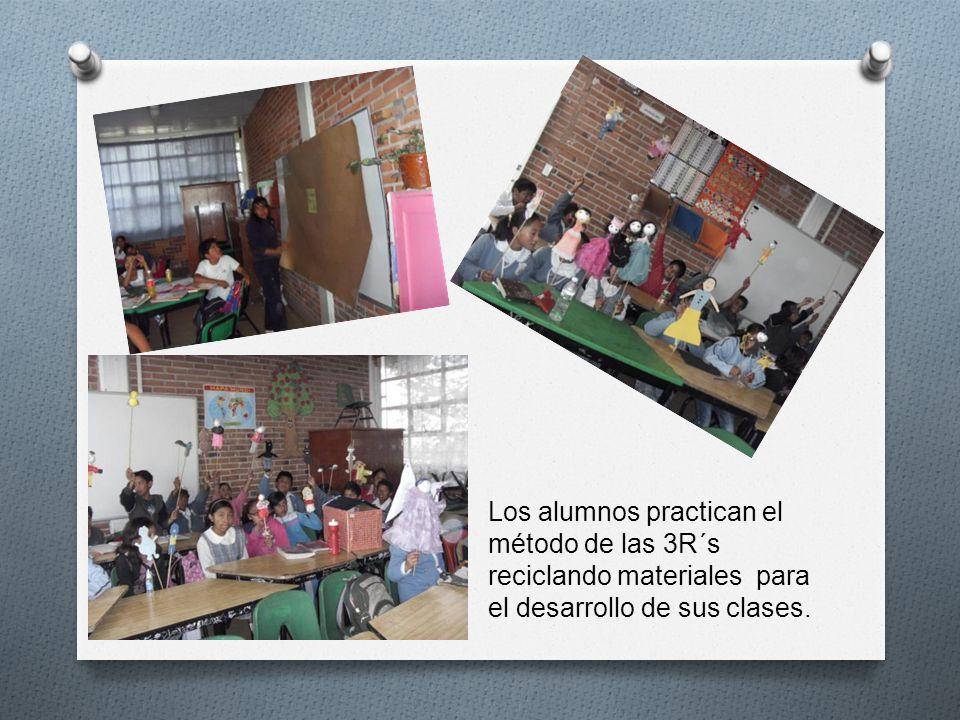 Los alumnos practican el método de las 3R´s reciclando materiales para el desarrollo de sus clases.