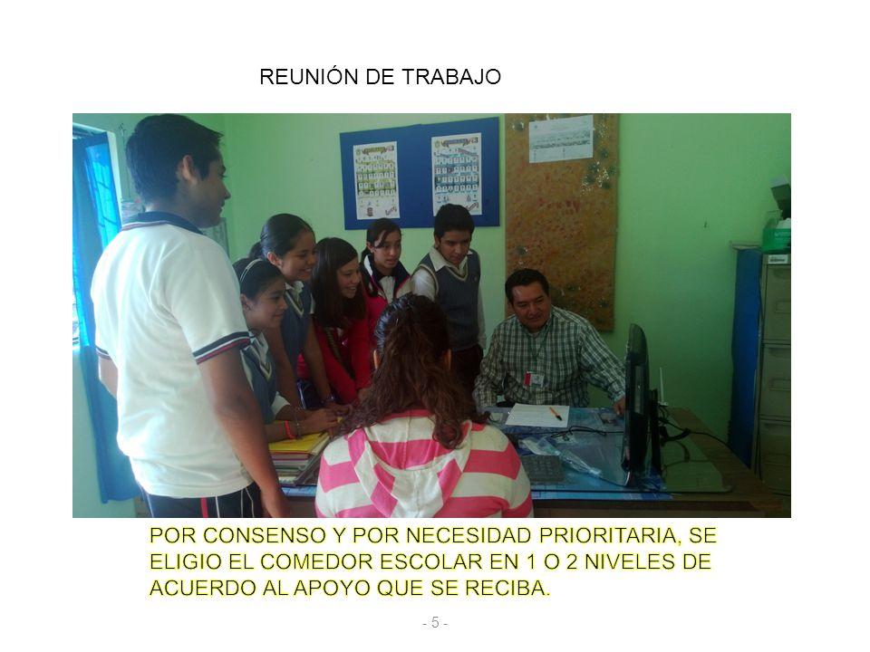 REUNIÓN DE TRABAJO - 5 -