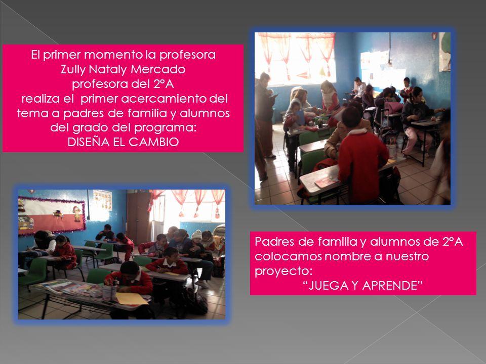 El primer momento la profesora Zully Nataly Mercado profesora del 2°A realiza el primer acercamiento del tema a padres de familia y alumnos del grado