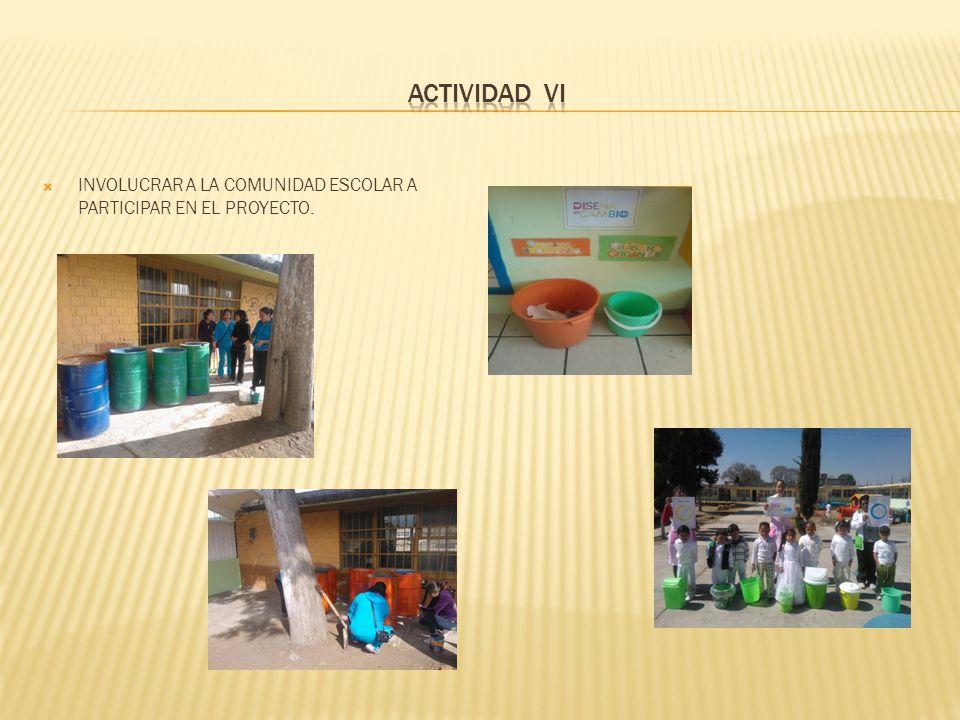 INVOLUCRAR A LA COMUNIDAD ESCOLAR A PARTICIPAR EN EL PROYECTO.