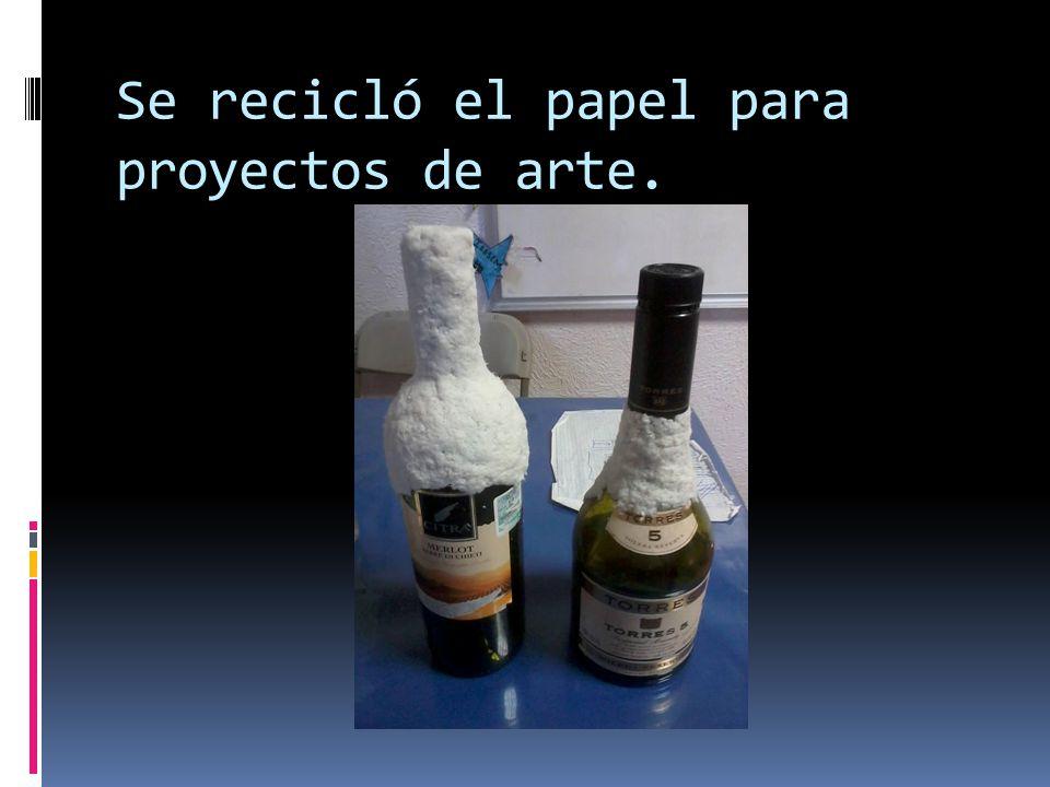 Se recicló el papel para proyectos de arte.