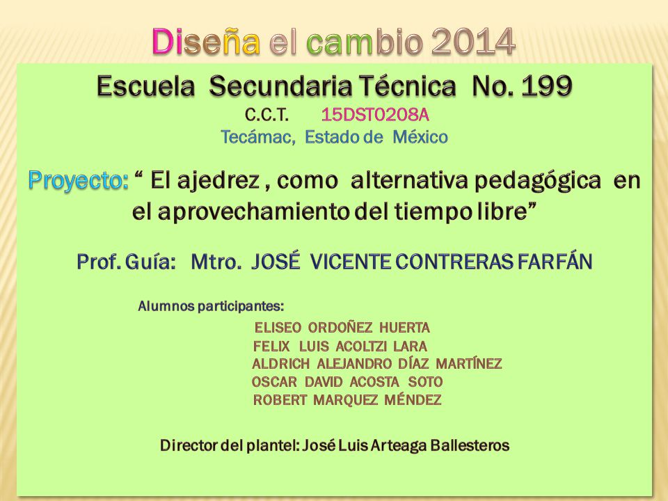 PROBLEMATICAS DETECTADAS POR LOS ALUMNOS 1.- OCIO 2.- FANATISMO POR LOS VIDEOJUEGOS 3.- DESINTERÉS POR EL ESTUDIO 4.- APASIONAMIENTO POR REDES SOCIALES 5.- PROBLEMAS FAMILIARES 6.- FALTA DE COMUNICACIÓN CON LOS PADRES 7.- DELINCUENCIA JUVENIL 8.- TABAQUISMO 9.- VIOLENCIA 10.- INICIO EN EL ALCOHOL 11.- FALTA DE ESPACIOS DEPORTIVOS 12.- PANDILLERISMO 13.- FALTA DE ESPACIOS CULTURALES 14.- ALIMENTACION SANA