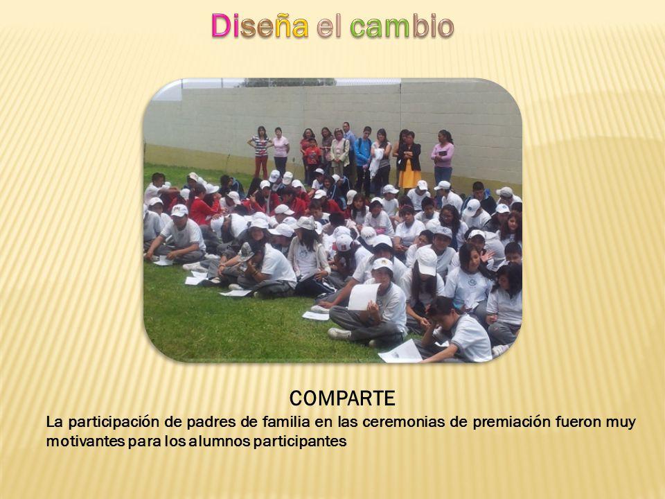 COMPARTE La participación de padres de familia en las ceremonias de premiación fueron muy motivantes para los alumnos participantes