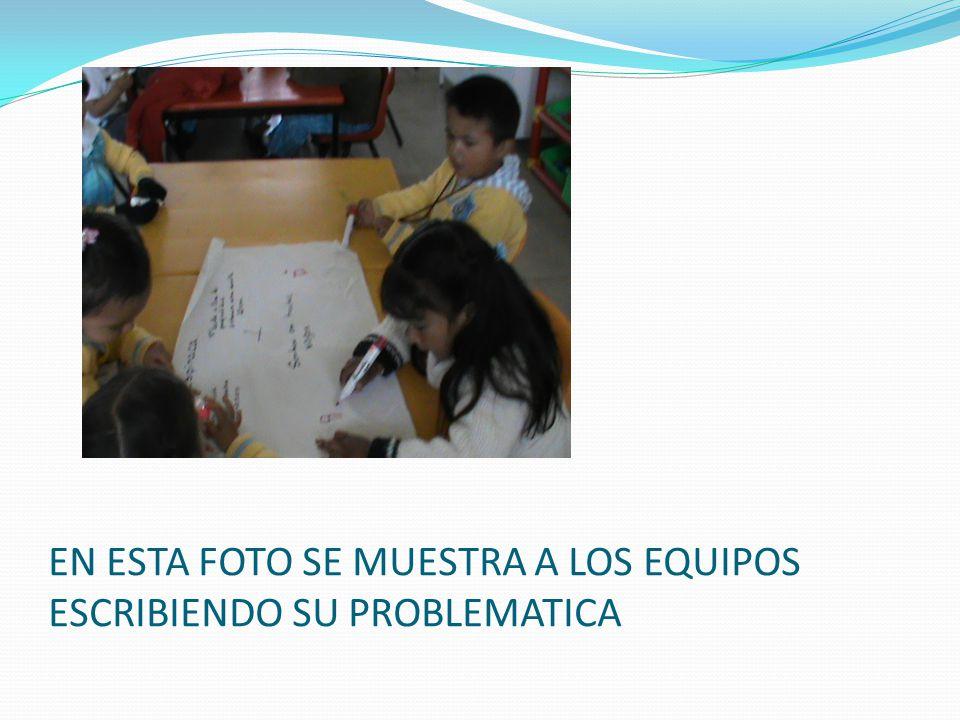 En esta foto se muestra a los alumnos imaginando como se puede resolver el problema a través de sembrar su propio alimento.